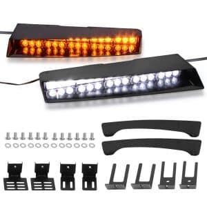 YITAMOTOR Visor Lights Emergency 2-15 LED Light Bar