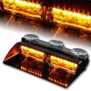 WoneNice 16 LED Emergency Hazard Warning Lights (Amber)
