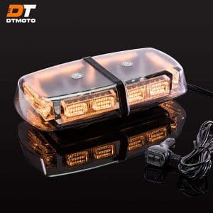 DT MOTO Amber LED Light Bar, IP66 Waterproof & Magnetic Mount