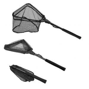 PLUSINNO Fishing Foldable Collapsible Net Fish Landing Net