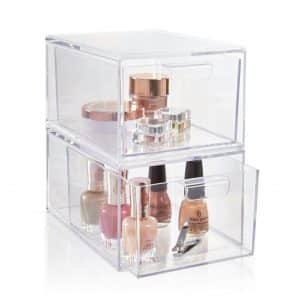 STORi Premium Stackable Cosmetic Organizer Collection