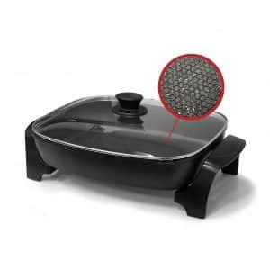 Elite Platinum EG-6203 Dishwasher Safe Non-stick Heavy Duty Electric Skillet