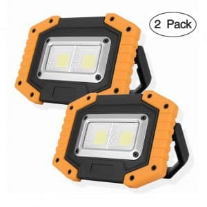 OTYTY 2 COB 30W 1500LM Rechargeable Portable LED Work Light