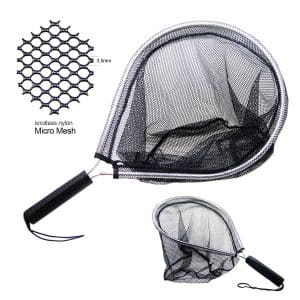 SAMSFX Catch and Release Aluminum Landing Nets for Fly Fishing