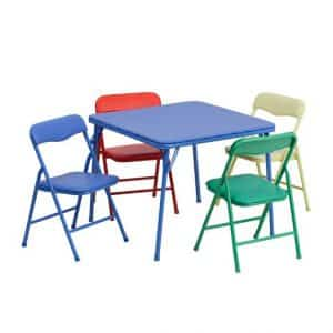 Flash Furniture Kids 5-Piece Folding Table and Chair Set