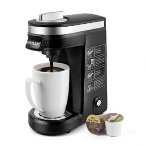 CHULUX Single Cup Coffee Maker, Black