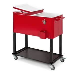 80-Quart Rolling Cooler Cart