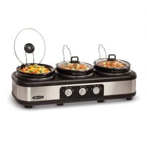 BELLA Triple Slow Cooker and Buffet Server