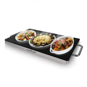 Nutrichef Portable Electric Dish Warmer Tray