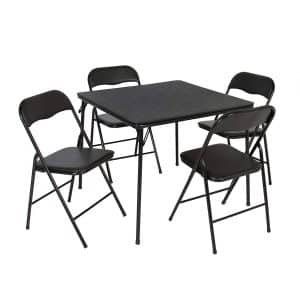 Best Choice Products 5-Piece Folding Table and Chairs Set
