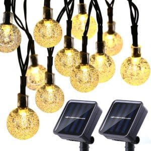 Joomer 2-Pack Globe Solar String Lights