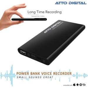 Attodigit@l Voice Activated Recorder MP3 Audio Recordings with Great Battery Life