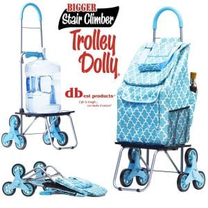 Dbest products Stair Climber Bigger Foldable Cart Trolley Dolly