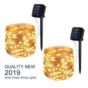 BINZET Solar String Lights