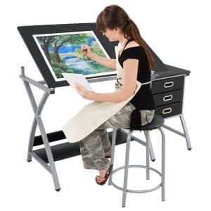 SUPER DEAL Adjustable Drafting Table