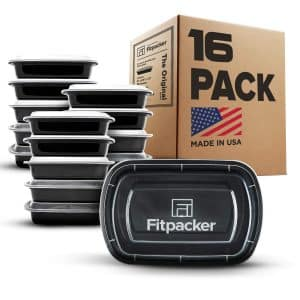 Fitpacker Meal Prep Containers, 16 Pack