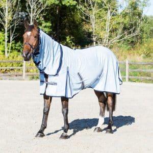 Horze Freja Light Blue Fly Combo Blanket