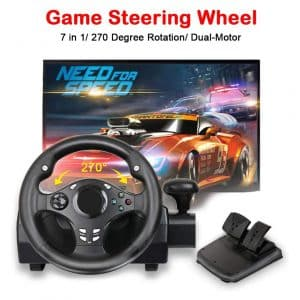 MOSTOP Dual-Motor Game Steering Wheel