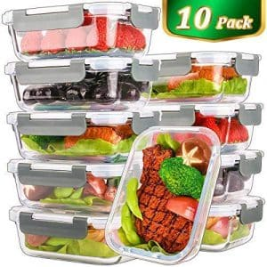 Mcirco 10 Pack, 22 Oz Glass Prep Containers