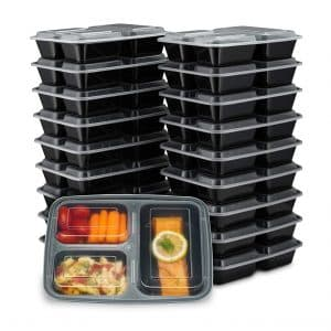 EZ Prepa 20 Pack 32 Oz Meal Prep Containers