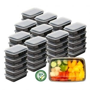 Simple Houseware 50 Pack Reusable Meal Prep Containers