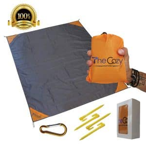 TheCozy Adventures Sand Free Compact Beach Blanket