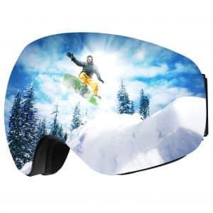 Omorc OTG Ski Goggles, Anti Fog Snowboard Goggles