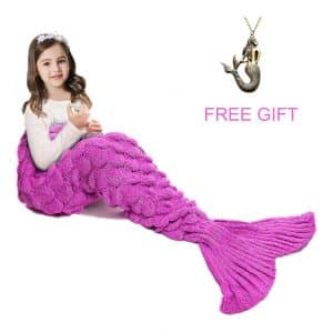 JR.WHITE Mermaid Tail Blanket for Kids