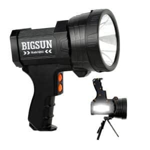 BIGSUN Q953 Bright LED Handheld Flashlight Spotlight (Black)