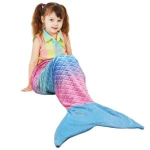 Catalonia Kids Mermaid Tail Blanket