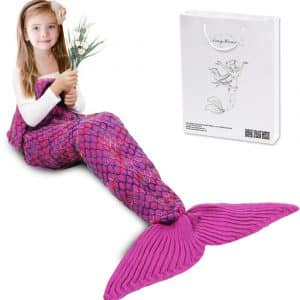AmyHomie Mermaid Tail Blanket