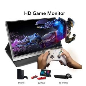 Lepow Portable Gaming Monitor with a Smart Cover and Screen Protector
