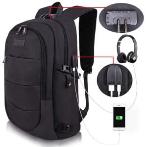 Tzwola Water-Resistant Laptop Backpack for Women and Men
