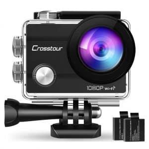 Crosstour Action Camera Underwater Cam WiFi Sports Camera