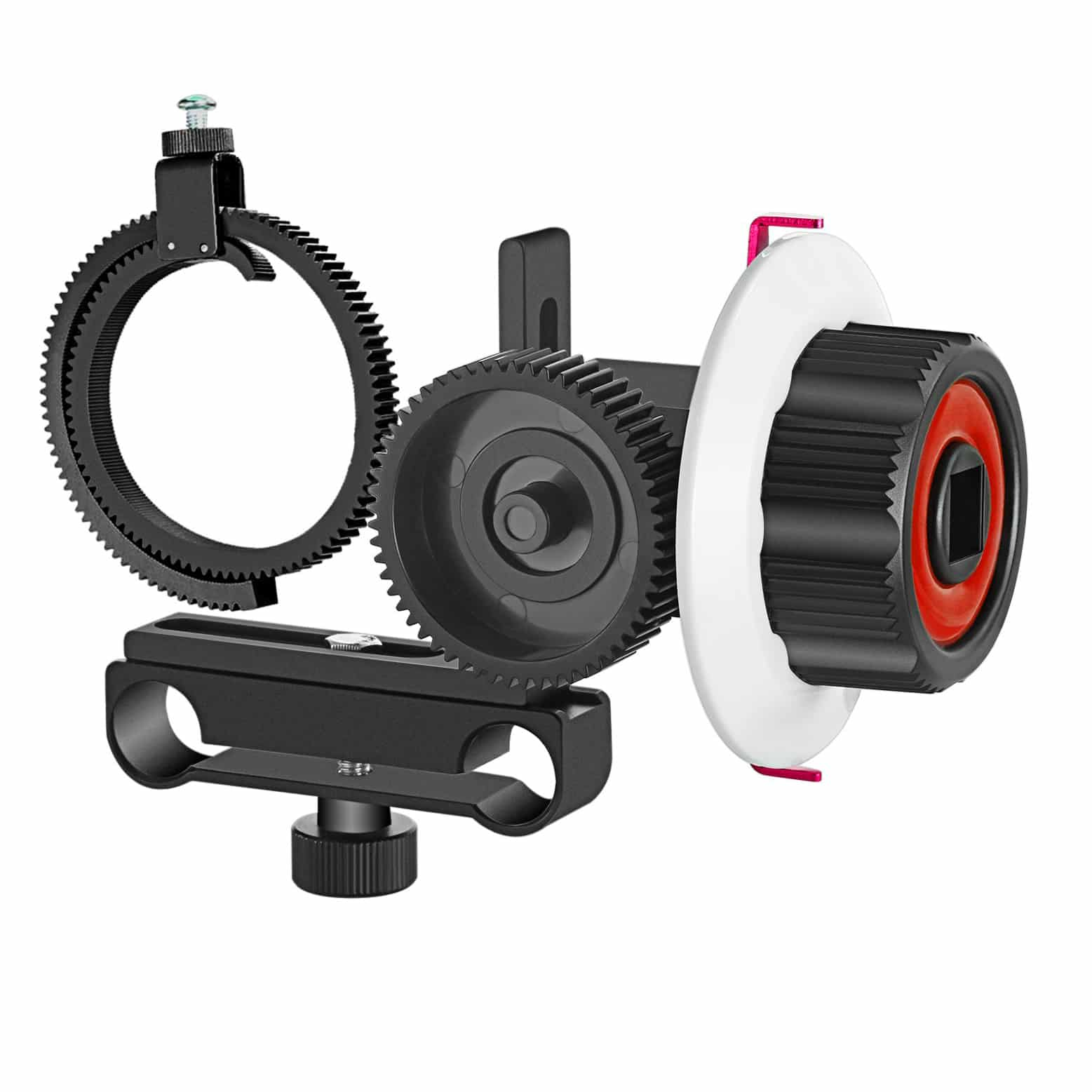 Zoom Camera Lens Focusing Follow Focus Handle Scale Lever and Gear Ring