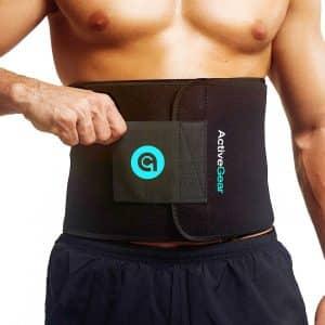 ActiveGear Waist Trimmer Belt for Stomach & Back Lumbar Support