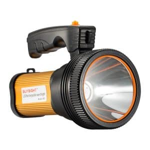 BUYSIGHT Bright Rechargeable LED Flashlight Searchlight Tactical Flashlight (golden)