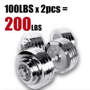 Ringstar Starring 200 Lbs Adjustable Dumbbells