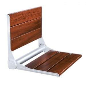 finnsalle Teak Wood Folding Shower Seat