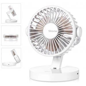 SKOME Battery Operated Fan Desk