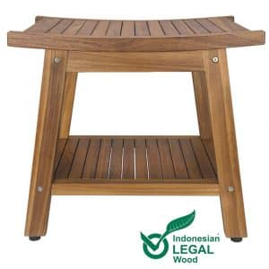 "20"" Teak Shower Bench"