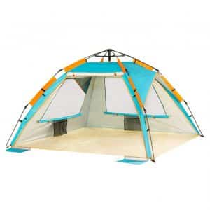 ZOMAKE Instant Beach Tent -Ideal for 3 to 4 Person with UV Protection