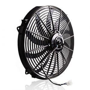 AUTOSAVER88 High Performance 16 inches Cooling Fan Black Electric Radiator
