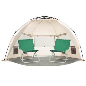Easthills Outdoors Beach Sun Shelter - Zippered Porch Included