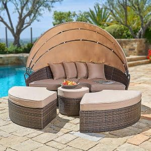 SUNCROWN Patio Round Daybed