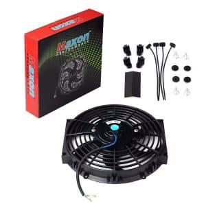 BETTERCLOUD 10 inch Black Slim Universal Fan Cooling Electric Radiator