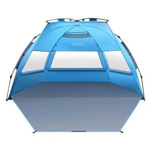 OutdoorMaster Beach Tent XL - 3-4 Person w/UV Protection