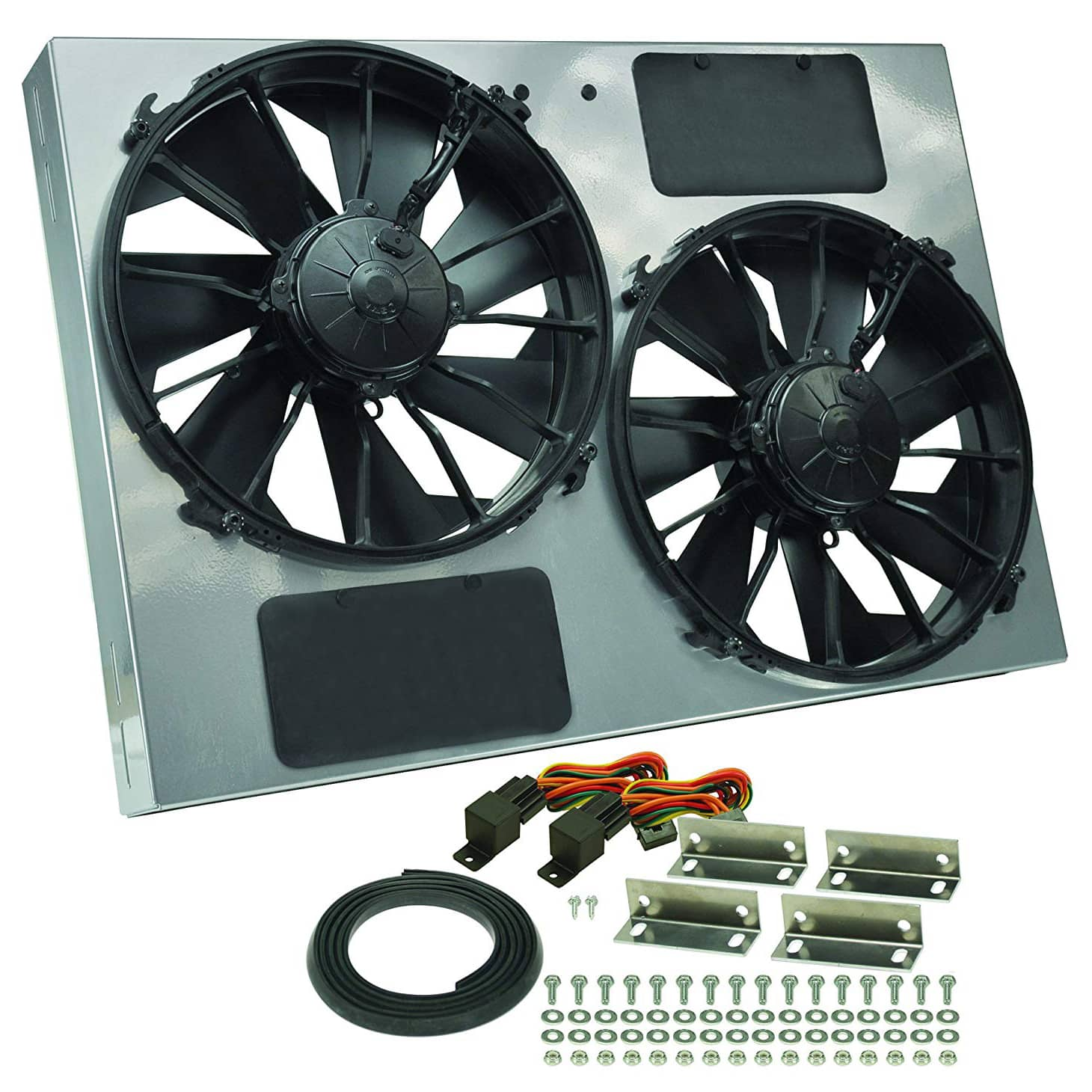 "1 X 9/"" Black 1500 CFM Electric Cooling Slim Push Pull Radiator Fan Universal 2"