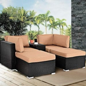 Tangkula 5PCS Outdoor daybed
