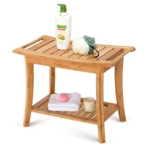 OasisSpace Bamboo Shower Bench